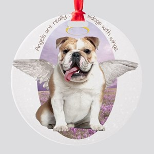 angelwithwings3 Round Ornament
